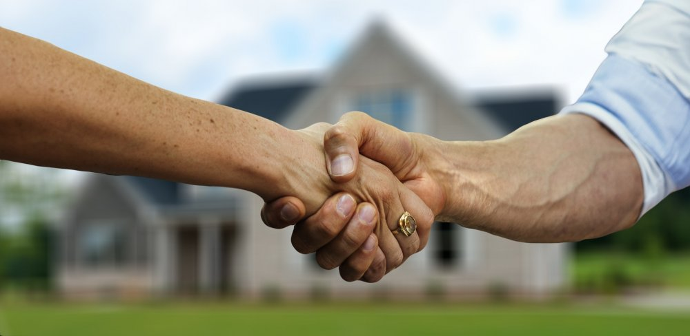 Real Estate Professional Shaking Hands